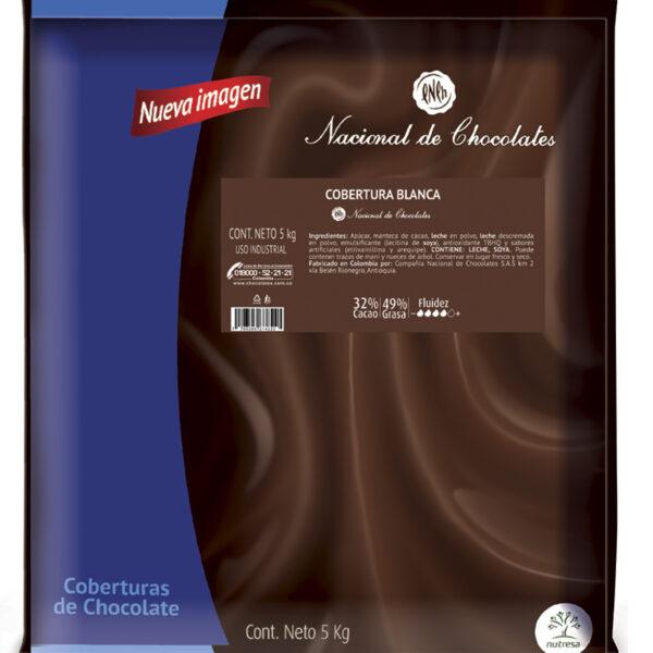 Cobertura chocolate blanco 32% 5KG